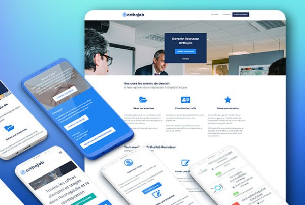 orthojob agence web wordpress design lyon creation developpement illustration cms boutique annonces forum en ligne