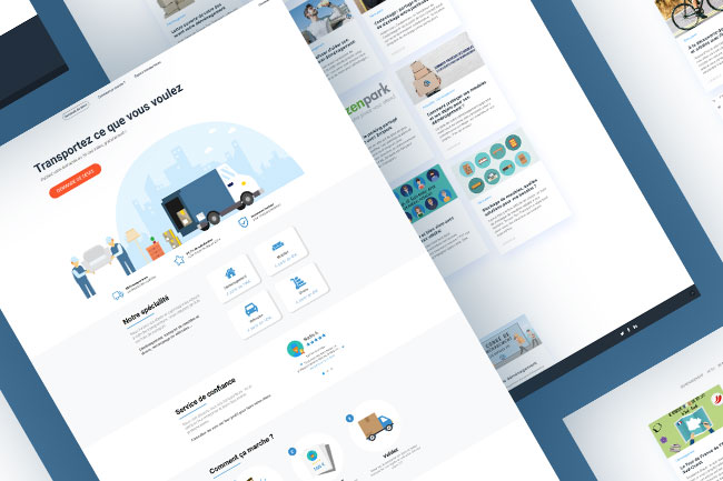 Interface trouvetontransport solution saas creation developpement agence lyon webdesign site internet illustration graphisme boutique en ligne ecommerce wordpress app application mobile